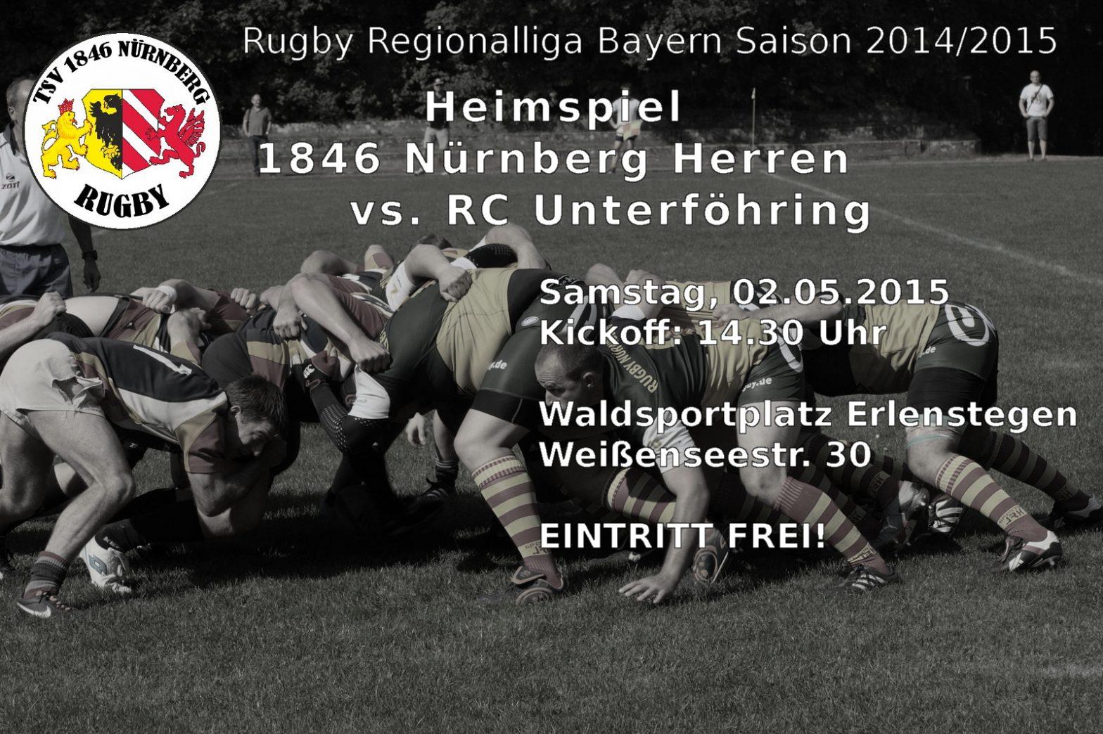 Rugby Regionalliga Bayern – TSV 1846 Nürnberg (Herren) vs. RC Unterföhring