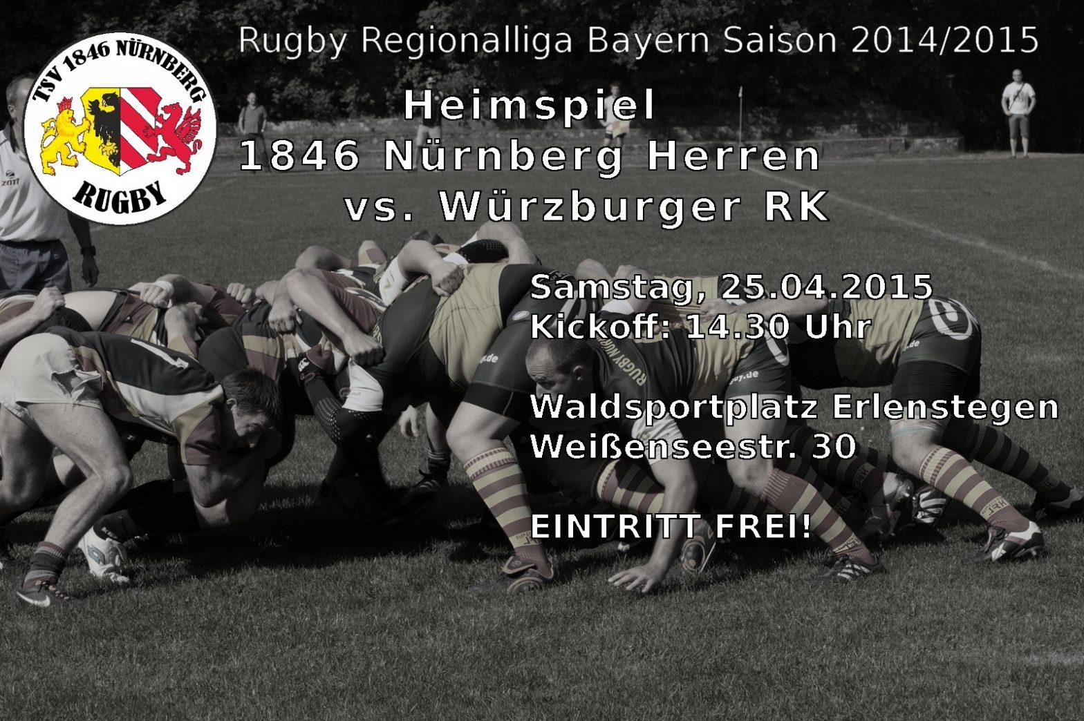 Heimspiel am Samstag vs. Würzburger RK