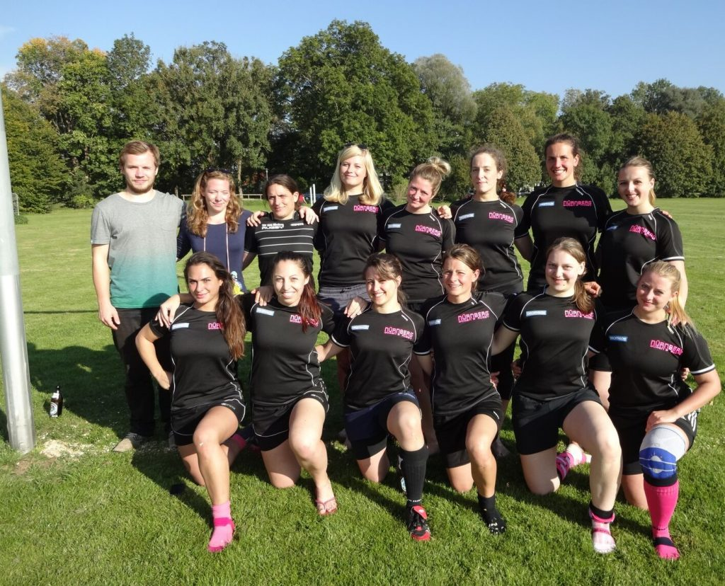 Damen 7s Team im Oktober 2015