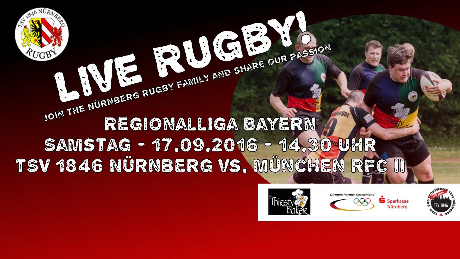 Endlich wieder Live Rugby in Nürnberg! Heimspiel-Knaller zum Auftakt